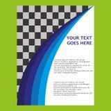 Vektor abstraktes Trigon-Geschäfts-Fahnen-Titel-Design Lizenzfreies Stockbild