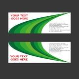 Vektor abstraktes Trigon-Geschäfts-Fahnen-Titel-Design Stockfotos