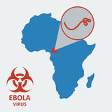 Vektor africa och ebolavirus stock illustrationer