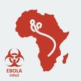 Vektor africa och ebolavirus Arkivbild