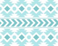 Vektor-afrikanisches ethnisches Muster-Schwarzweiss-Hintergrund-Illustration Lizenzfreies Stockbild