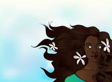 Vektor-Afroamerikaner-Frau lizenzfreie stockfotografie