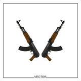 Vektor AK 47 Lizenzfreie Stockfotos
