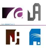 Vektor-Alphabet-Projekt 2 Lizenzfreies Stockbild