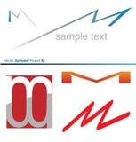 Vektor-Alphabet-Projekt M Lizenzfreie Stockfotografie