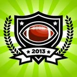 Vektor-amerikanischer Fußball-Emblem Stockfotos