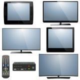 Vektor analog und Digital-Fernsehen lizenzfreie abbildung