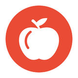 Vektor Apple innerhalb einer Kreis-Ikone Lizenzfreie Abbildung