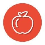 Vektor Apple innerhalb eines Kreises zeichnen Ikone Lizenzfreie Abbildung