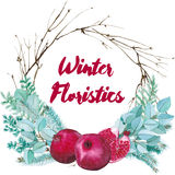 Vektor-Aquarell-floristische Zusammensetzung Lizenzfreies Stockfoto
