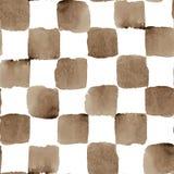 Vektor-Aquarell-nahtloses kariertes Muster mit Stockbilder