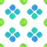 Vektor-Aquarell-nahtloses Muster mit Blau und Lizenzfreie Stockfotografie