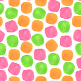 Vektor-Aquarell-nahtloses Muster mit Grün Lizenzfreies Stockfoto