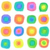 Vektor-Aquarell-Spektrum Dots Seamless Pattern Lizenzfreie Stockbilder
