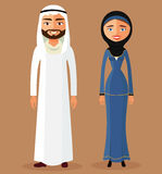 Vektor - arabischer Leutepaarcharakter Getrennt Stockfoto