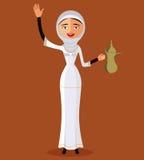 Vektor - arabisches FrauenZeichenbild Lizenzfreies Stockbild