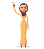 Vektor - arabisches Mädchen der Karikatur im Trachtenkleid Lizenzfreies Stockfoto