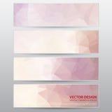Vektor-Arbeit, abstrakte Fahne für Design und kreative Arbeit Stockfotos