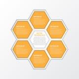Vektor-Arbeit, modernes Infographic für Design und kreative Arbeit Lizenzfreies Stockbild