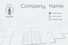 Vektor-Architekturvisitenkarte Stockbilder