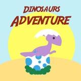 Vektor Art Logo för dinosaurieaffärsföretagillustration Royaltyfri Bild