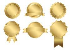 Vektor-Ausweise der Golddichtung Stockfoto