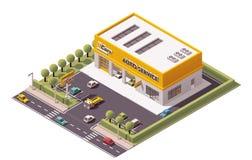 Vektor-Auto-Service Lizenzfreie Stockfotografie