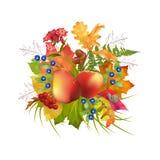 Vektor Autumn Composition Lizenzfreies Stockbild