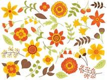Vektor Autumn Floral Set stock abbildung