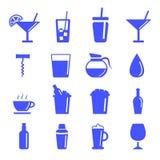 Vektor av att dricka symbolen som isoleras på vit bakgrund Royaltyfri Foto