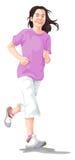 Vektor av att jogga för kvinna Arkivfoto
