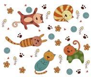 Vektor av Cat Style vektor illustrationer