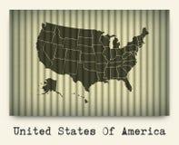 Vektor av den Amerika översikten på papp royaltyfri illustrationer
