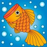 Vektor av den guld- fisken Royaltyfri Foto