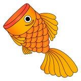 Vektor av den guld- fisken som isoleras Royaltyfri Bild