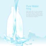Vektor av den klara vatten- och sammansättningsdesignen Royaltyfria Bilder