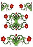 Vektor av en blom- garnering Royaltyfria Foton