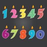 Vektor av födelsedagstearinljus Arkivfoto