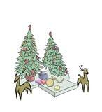 Vektor av julgranen Arkivfoton