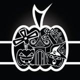 Vektor av läskiga halloween stock illustrationer