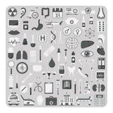 Vektor av plana symboler, läkarundersökninguppsättning Royaltyfri Fotografi