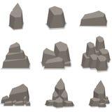Vektor av stenstiluppsättningen Arkivbild