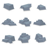 Vektor av stenuppsättningbeståndsdelen Royaltyfria Bilder