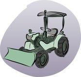Vektor av traktoren Royaltyfria Bilder