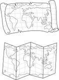 Vektor av två översiktsöversikter stock illustrationer