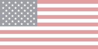 Vektor av USA flaggan i urblekt stil royaltyfri illustrationer