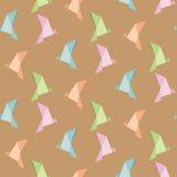 Vektor av vikningpapper av fågeln, origami, sömlös bakgrund Arkivbilder