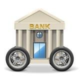 Vektor-Bankschalterbus Lizenzfreie Stockfotografie