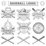 Vektor-Baseballlogo und -insignien stockbilder