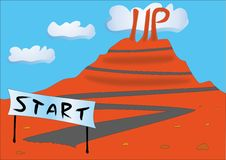 Vektor beginnen oben Geschäftskonzept-Metaphernatur Lizenzfreie Stockbilder